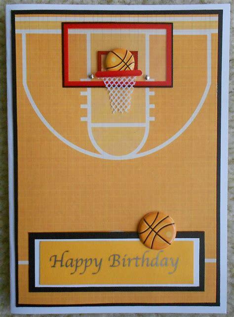 Basketball Birthday Card Templates by Handmade Basketball Card Cricut Ablities