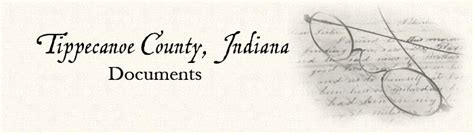 Tippecanoe County Indiana Court Records Tippecanoe County Indiana Documents