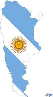 Argentina Flag Outline by Clipart Argentina Map Flag