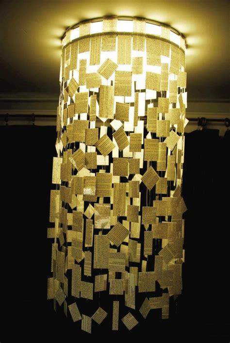 creative diy chandeliers    paper