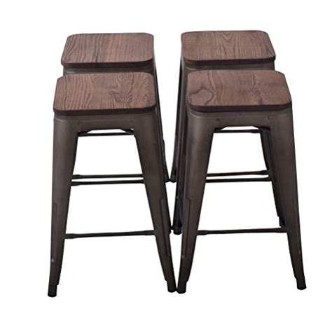 Outdoor Metal Backless Bar Stools by Top 20 For Best Wood Bar Stools Catalogue Of Furniture