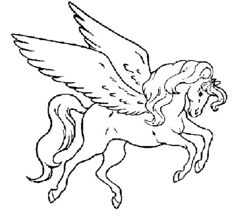 Print Download Winged Unicorn Coloring Pages Winged Unicorn Coloring Pages