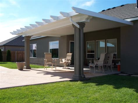 Insulated Patio Cover With Stucco Columns Yelp Stucco Patio Cover Designs