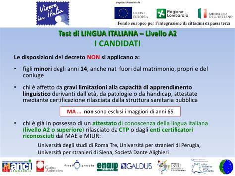 www testitaliano interno it modulo di domanda slide2 176 incontro con associazioni emigranti