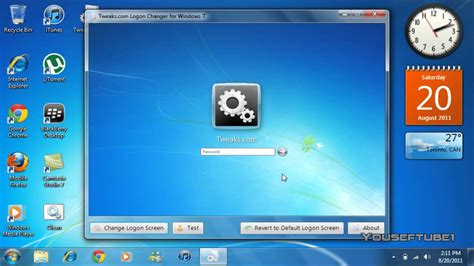 how to change windows 7 login screen