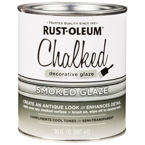 chalk paint rustoleum xylazel rust oleum 30 oz chalked smoked glaze of 2 315883