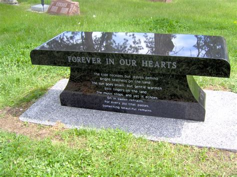 bench headstones gravestones image gallery memorial benches