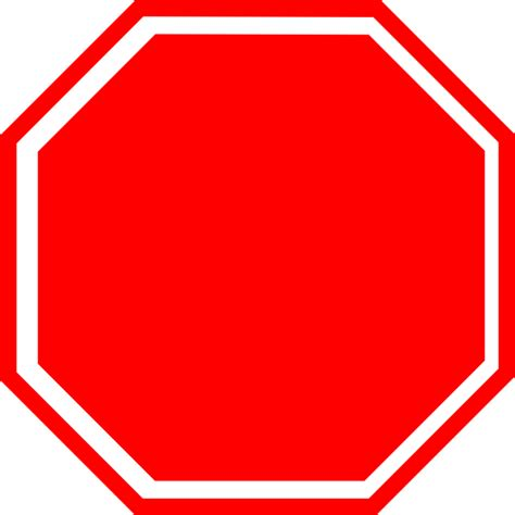 Blank Stop Sign Clip Free by Free Stop Sign Clipart Pictures Clipartix