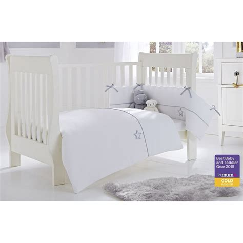 Cot Bed Bumper Sets Uk Clair De Lune Silver Lining 2 Cot Cot Bed Quilt And Bumper Set Bedding From Pramcentre Uk