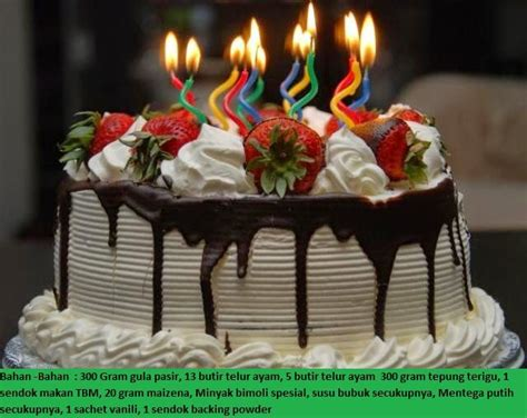 resep dan cara membuat kue ulang tahun anak 25 ide terbaik kue ulang tahun di pinterest kue ulang