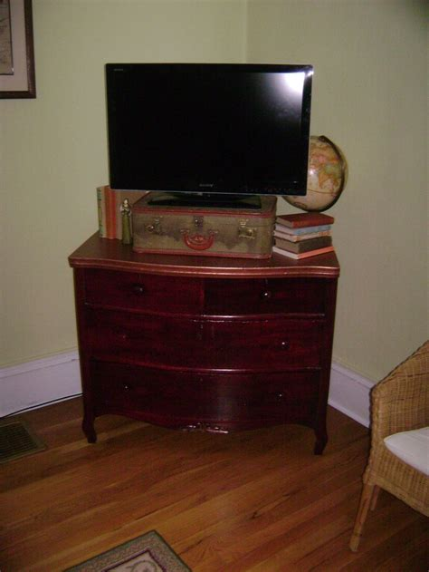 Antique Dresser Tv Stand by Antique Dresser Turned Tv Stand House