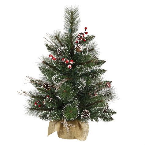 iholiday aisle vs vickerman vickerman 2 unlit snow tipped pine and berry artificial tree shop your way
