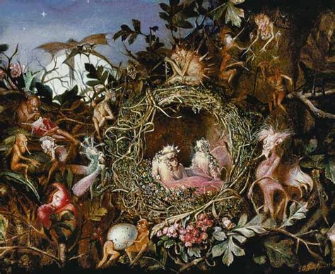fairies in a bird s nest by anster fitzgerald