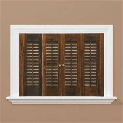 Interior Shutters Home Depot by Homebasics Traditional Real Wood Walnut Interior Shutter