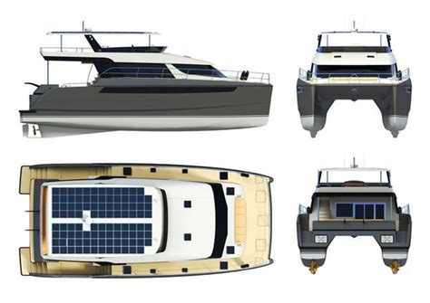 catamaran pontoon design bc65 albatross power catamaran designed by am design
