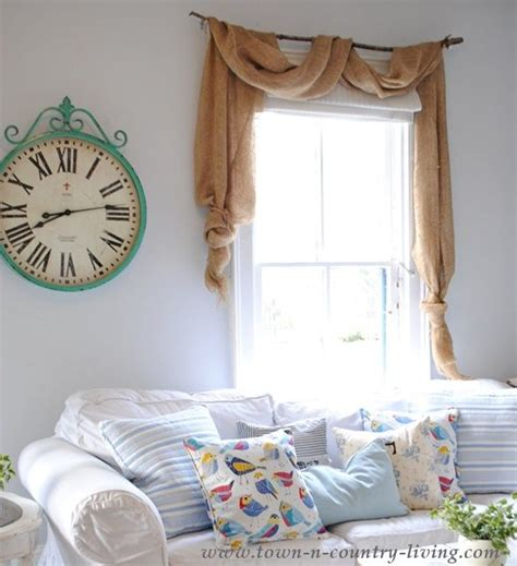 how to sew burlap curtains no sew landscape burlap swag curtains window burlap