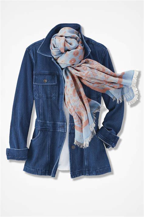 knit denim jacket trails knit denim jacket coldwater creek