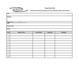 sample project action plan template 9 documents in pdf