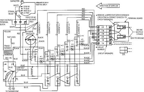 coleman furnace wiring diagram electric furnaces