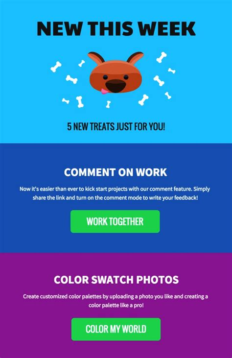 45 Engaging Email Newsletter Templates Design Tips Exles For 2019 Venngage Weekly Email Newsletter Template