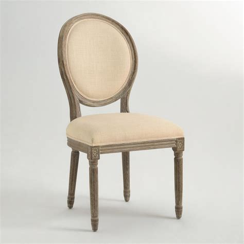 linen paige round back dining chairs traditional