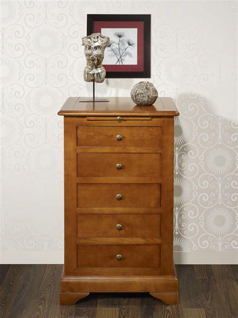 meuble 5 tiroirs chiffonnier 5 tiroirs en merisier massif de style louis