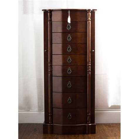 lock jewelry armoire robyn jewelry armoire with security lock by hives honey