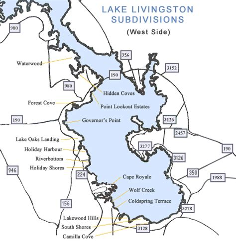 map of livingston texas lake livingston subdivision map