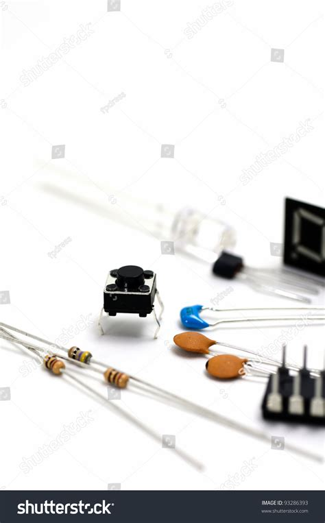 what is capacitor and transistor electronic components led and switch and transistor and capacitor and resistor and ic stock