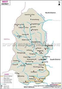 west sikkim district map