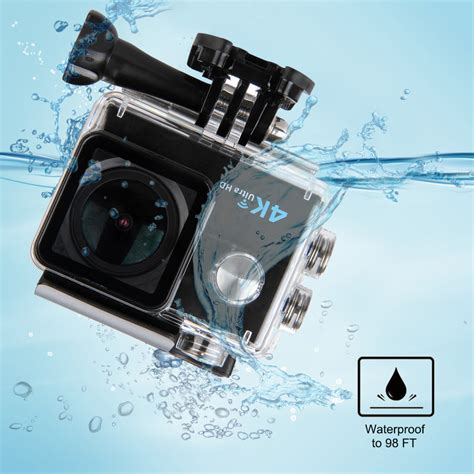led len aktion 4k 16mp 2 quot actioncam wifi fhd 1080p helm sport kamera