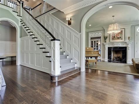 Home Design App Stairs by Traditional Staircase With Wainscoting Amp High Ceiling