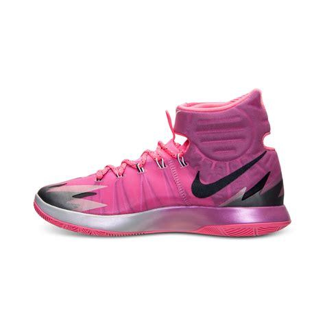 pink nike sneakers lyst nike mens zoom hyperrev basketball sneakers from