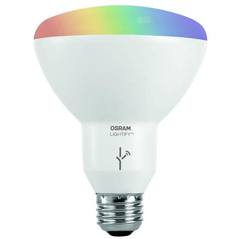 Coloured Led Light Bulbs Sylvania 65w Equivalent Multi Color And Adjustable White Br30 Smart Led Light Bulb 73739 The