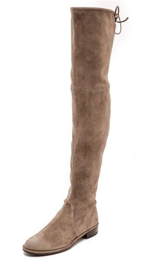 stuart weitzman lowland thigh high flat boots shopbop
