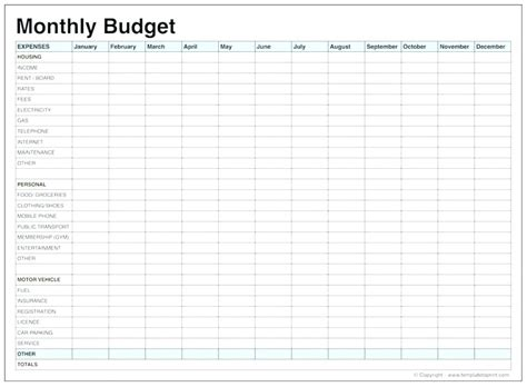 monthly budget sheet template expense spreadsheet template haisume