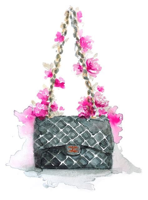 Bag Fashion Atr chanel paperfashion illustration