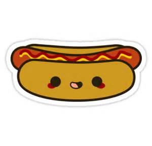 Sticker Decor For Walls quot yummy kawaii hot dog quot stickers by peppermintpopuk redbubble