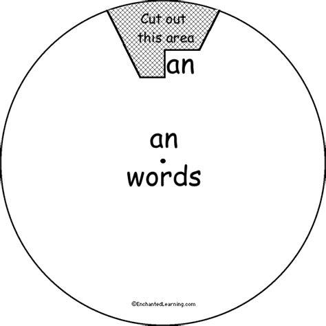 word wheel an words printable worksheet