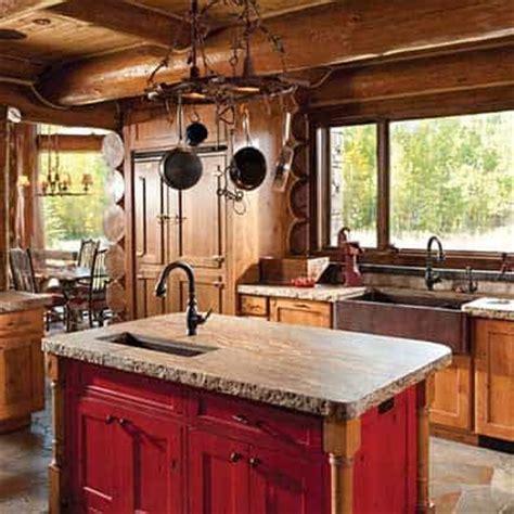 log home kitchen islands best 25 rustic cabin kitchens ideas on log