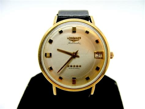 vintage longines automatic admiral 10k yellow gold filled