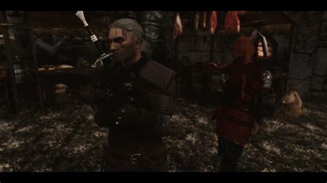 skyrim mod geralt geralt of rivia voiced follower the witcher at skyrim