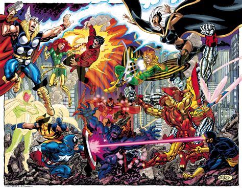 libro avengers by john byrne x men vs avengers john byrne tom smith in brian c s original art comic art gallery room
