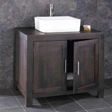Sink Vanity Unit Uk by Alta Solid Wenge Oak Door Bathroom Vanity Unit