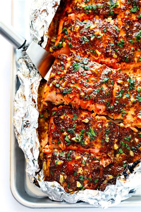 salmon in oven honey mustard salmon in foil gimme some oven