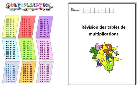 feuille de table de multiplication tables de multiplications cycle 3 journal d une pe