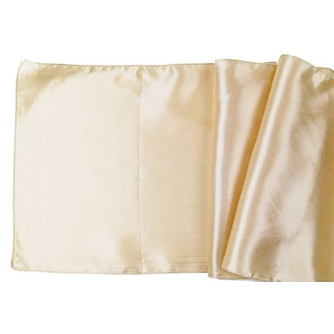 satin table runner solid chagne