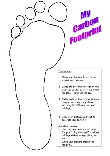 carbon footprint template carbon footprint by mrswolsey teaching resources tes