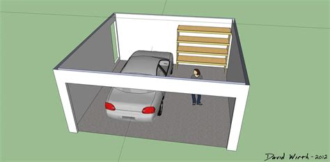 3 Car Garage Dimensions How To Build A Shelf For The Garage