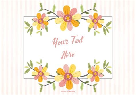 Patch Floral Bordir Bunga floral frame background free vector stock